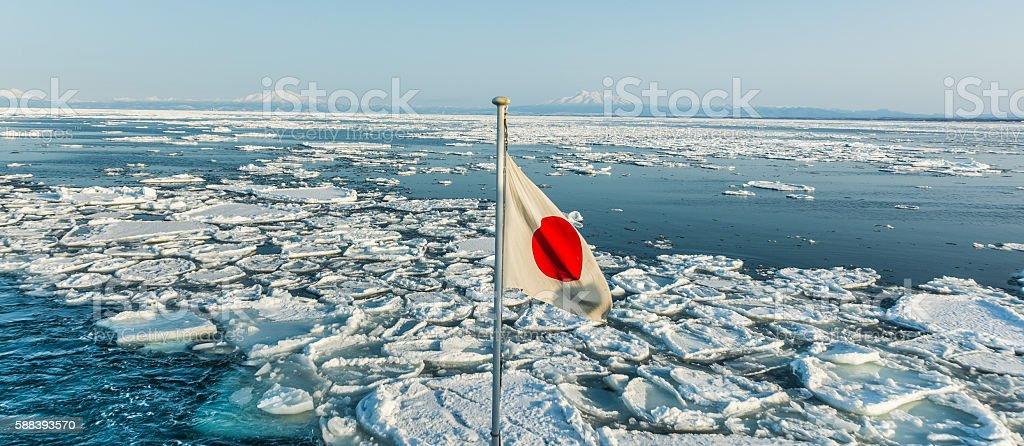 Abashiri Ice stock photo
