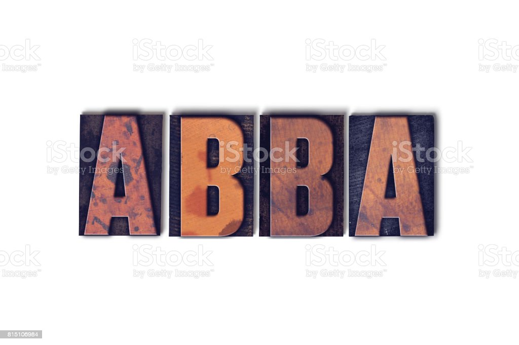 Abba Concept Isolated Letterpress Word stock photo