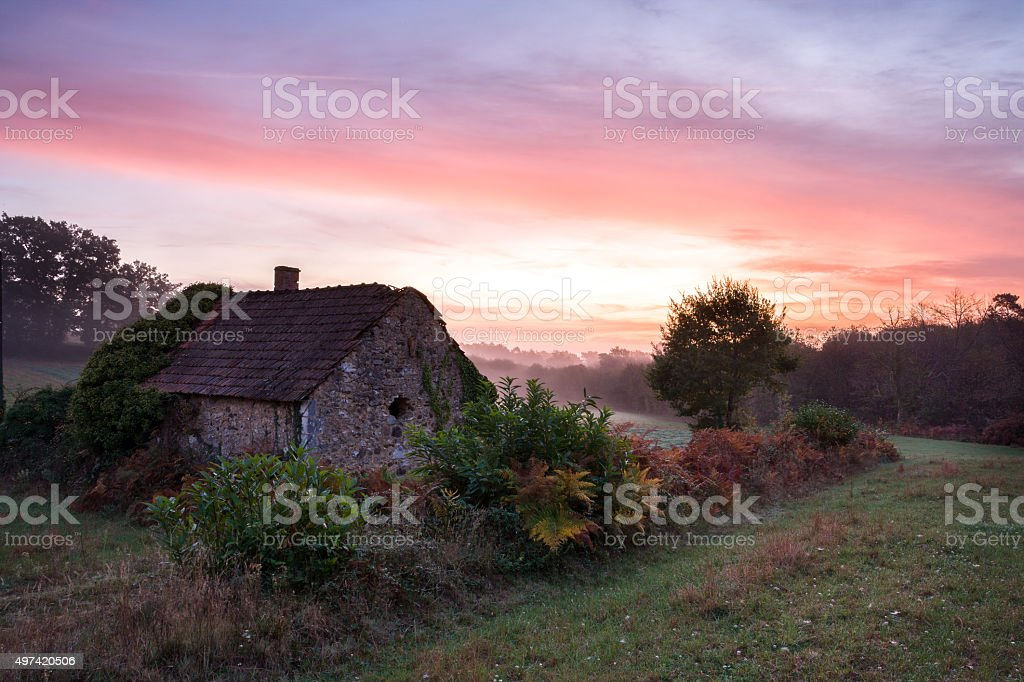 Abbandoned cottage stock photo