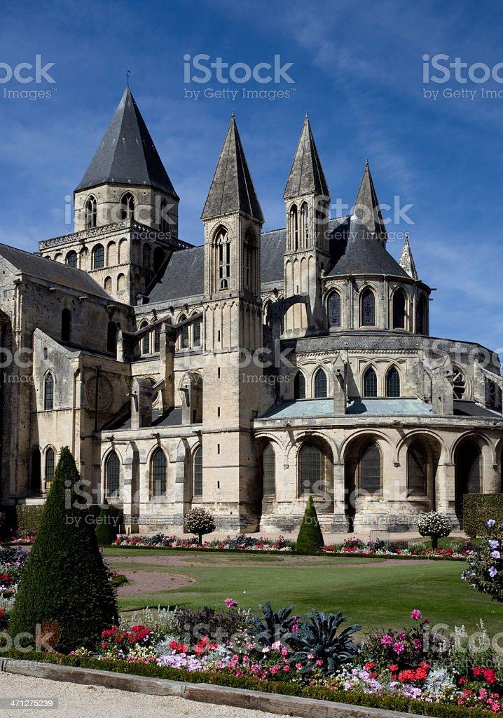 Abbaye aux Hommes – Caen, Normandy France stock photo