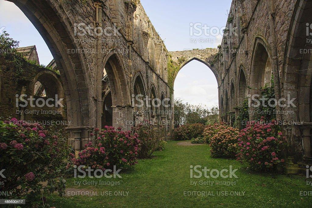 Abbaye de Beauport stock photo