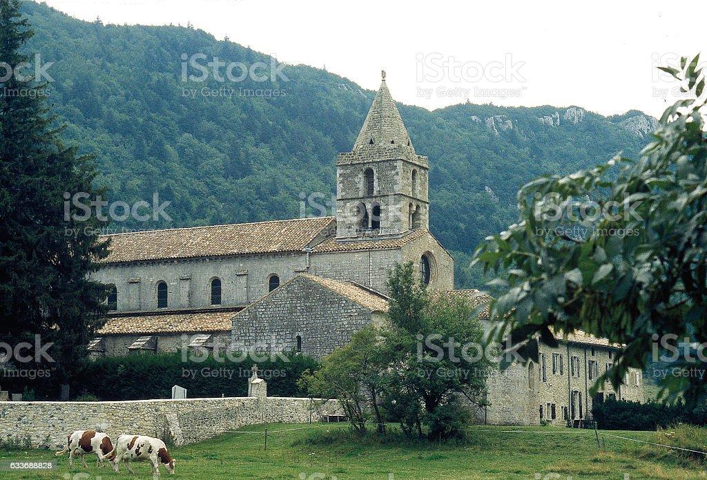 Abbaye de Léoncel Drôme stock photo