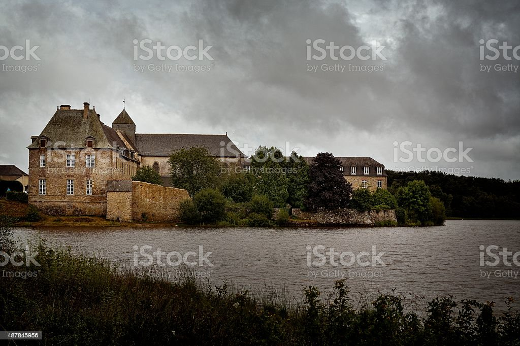Abbaye de Paimpont stock photo