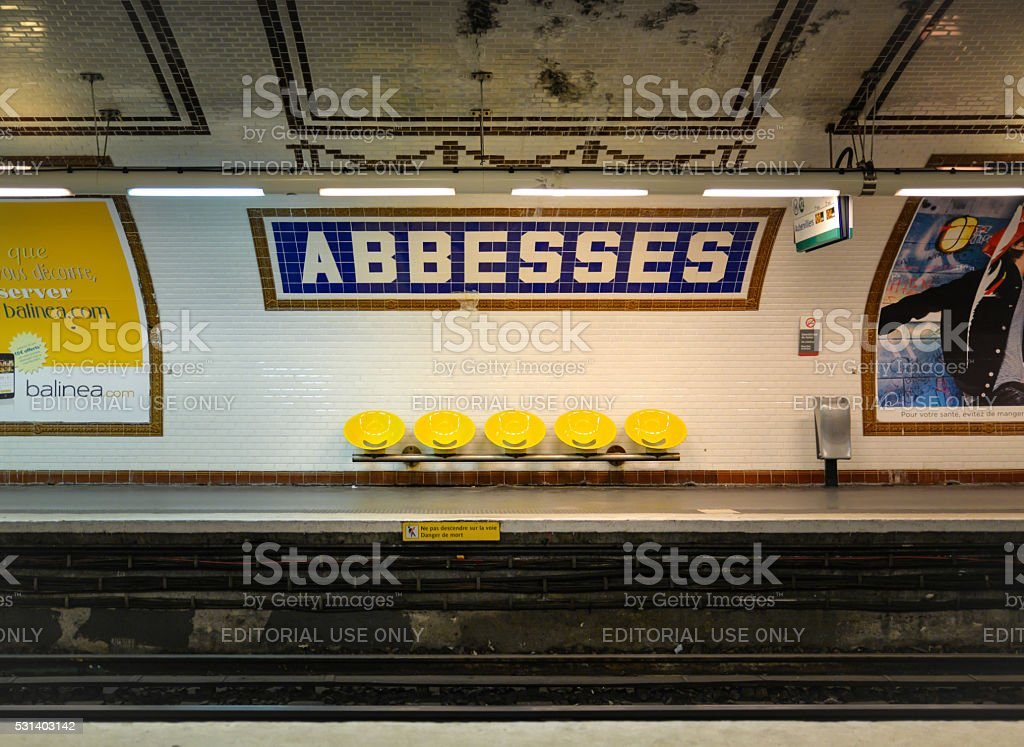 Abbesses subway station, Paris, France stock photo