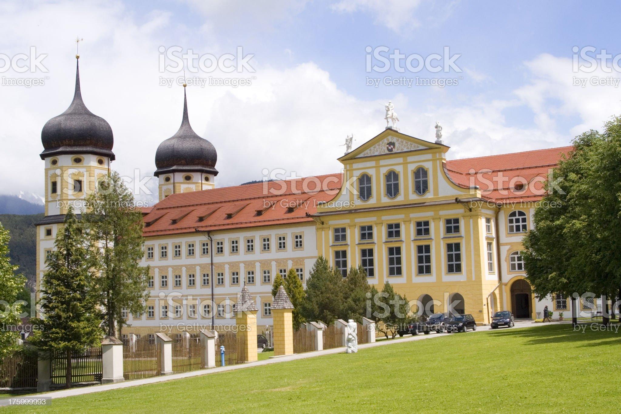 Abbey church near Innsbruck, Austria royalty-free stock photo