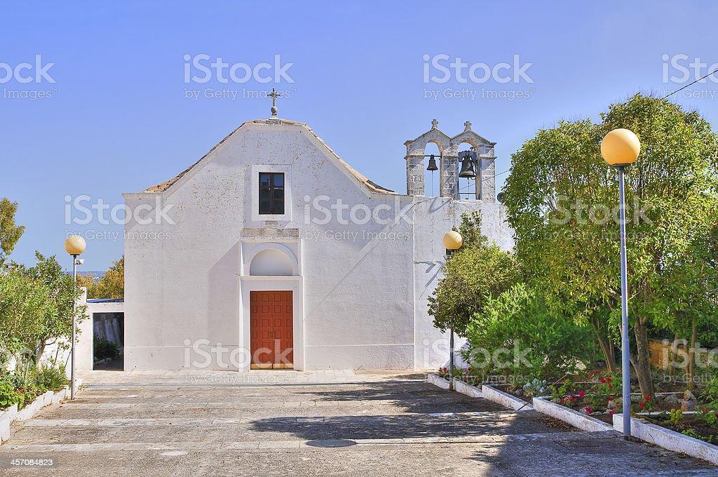 Abbey Church of St. Anna. Ceglie Messapica. Puglia. Italy. stock photo