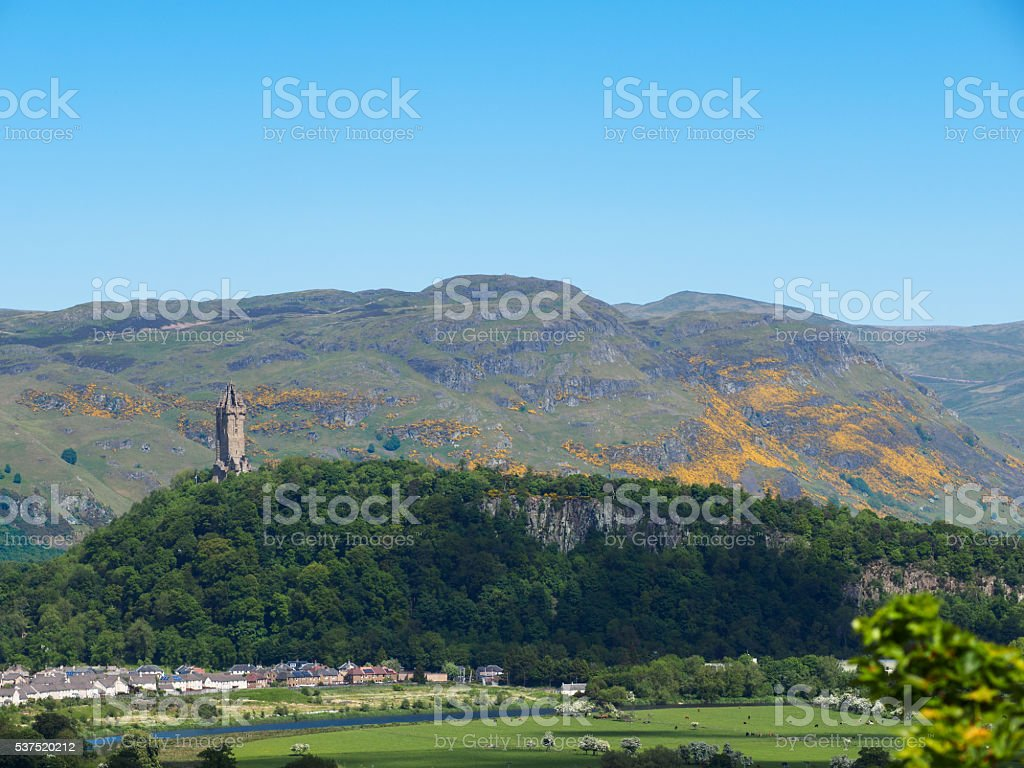 Abbey Craig, Stirling. stock photo