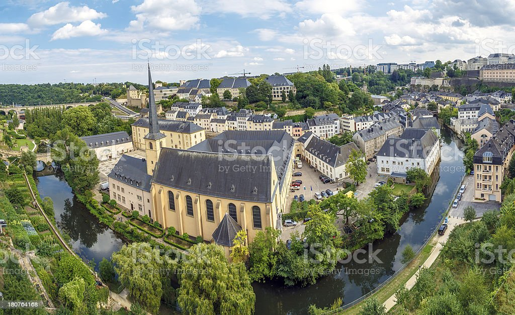 Abbey de Neumunster in Luxembourg City stock photo