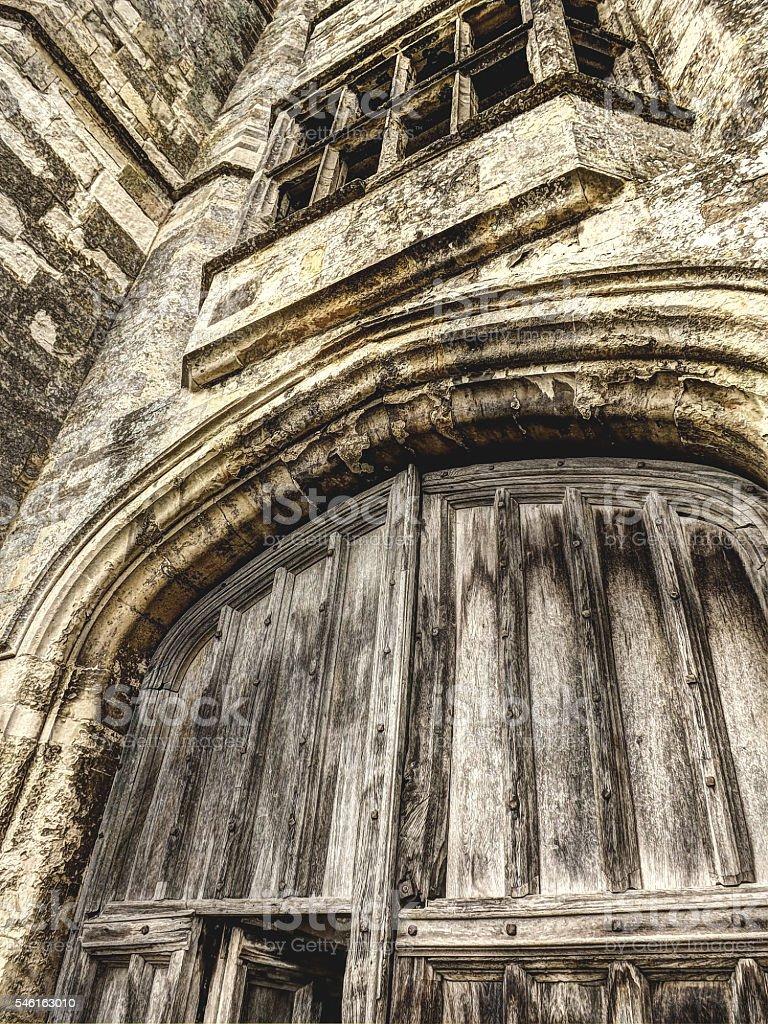Abbey Gate stock photo
