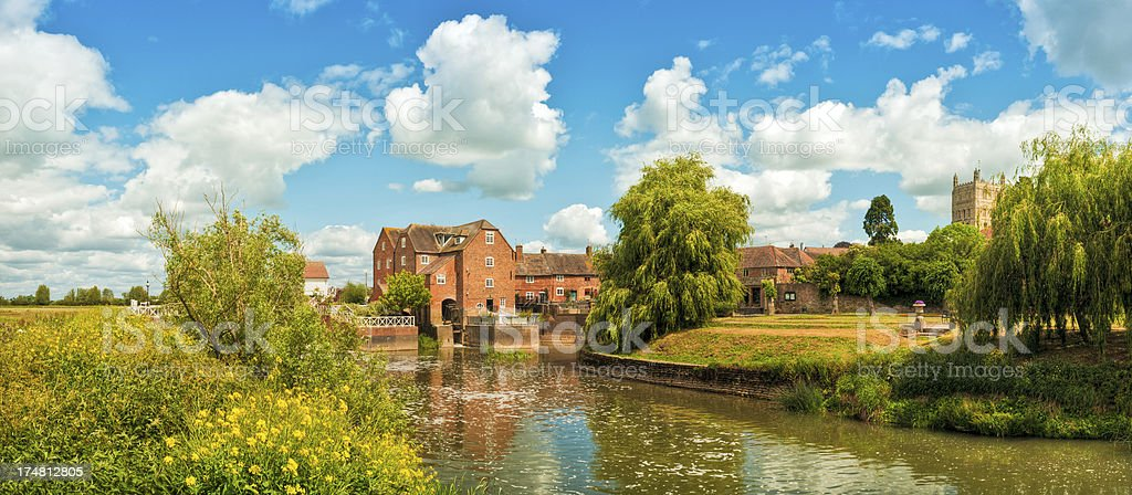 Abbey Mill, River Avon, Tewkesbury, Gloucestershire, UK stock photo