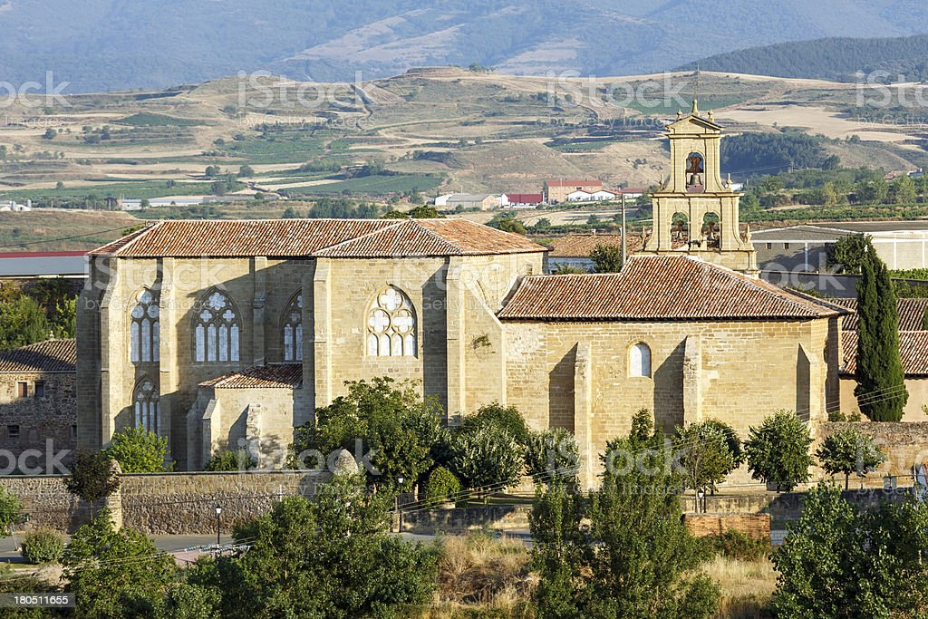 abbey  monastery in Canas,La Rioja royalty-free stock photo