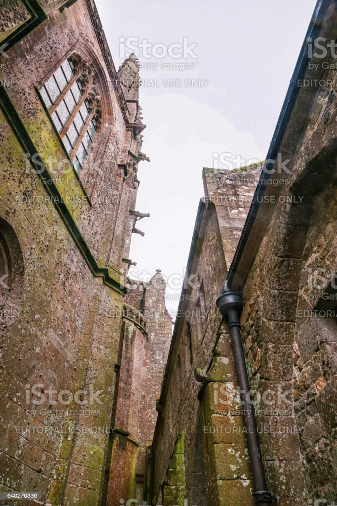 Abbey Mont Saint Michel in Normandy Manche France stock photo