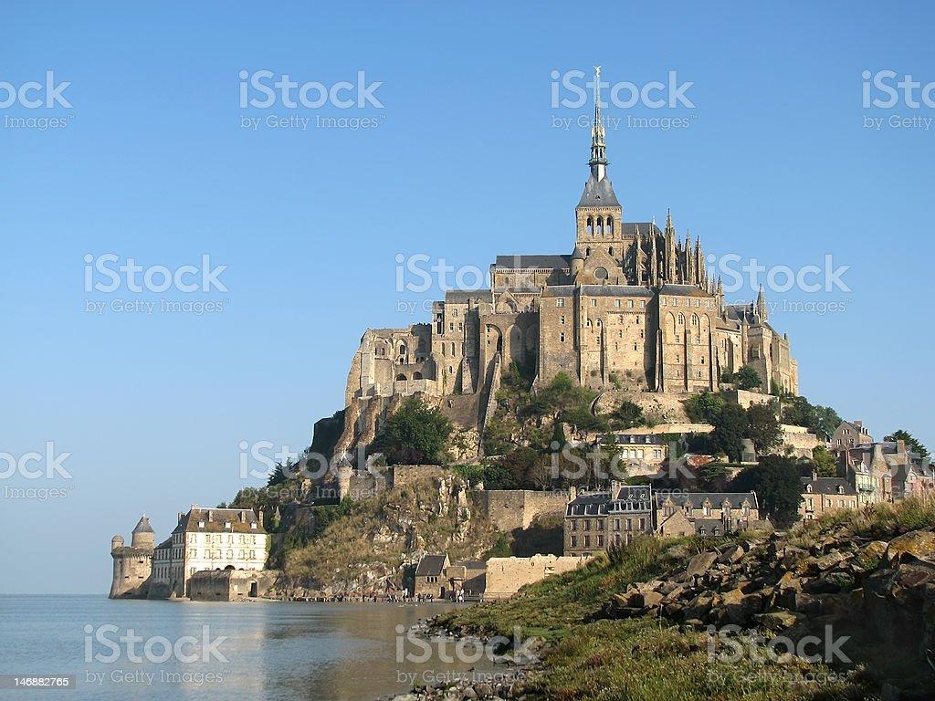 Abbey Mont Saint Michel royalty-free stock photo