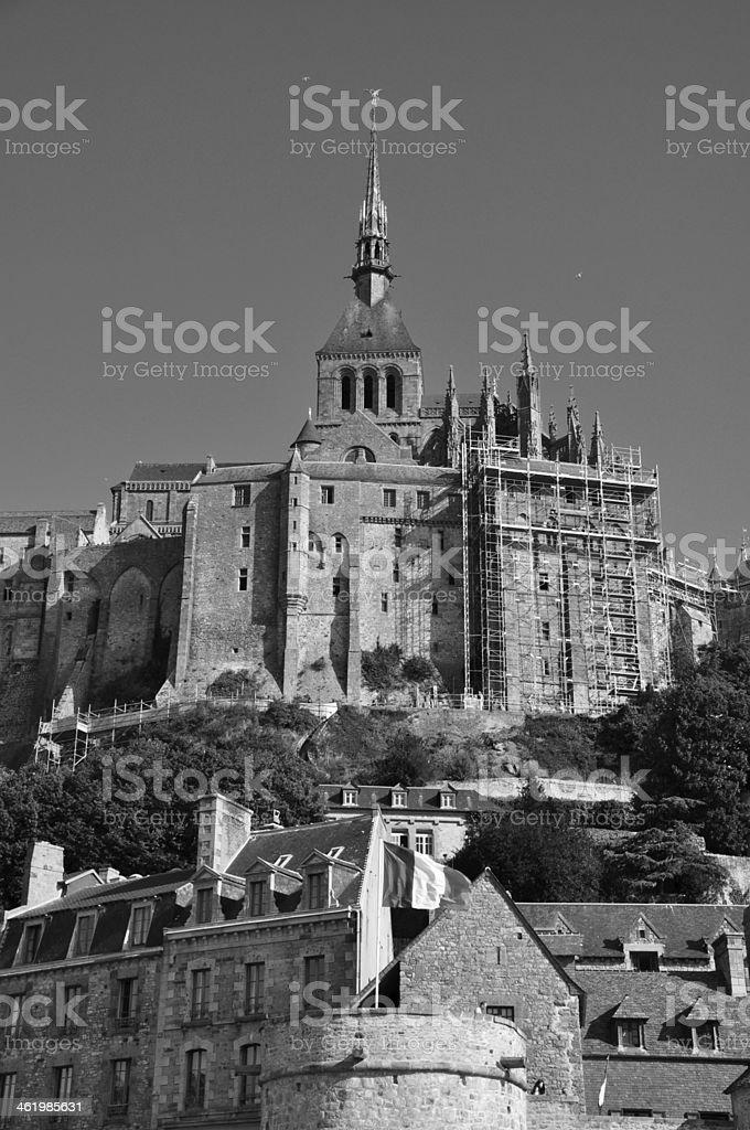 Abbey Mont Saint-Michel in France stock photo