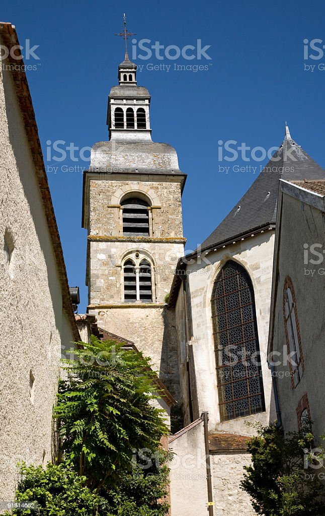 Abbey of Hautvillers in France, close to Epernay stock photo