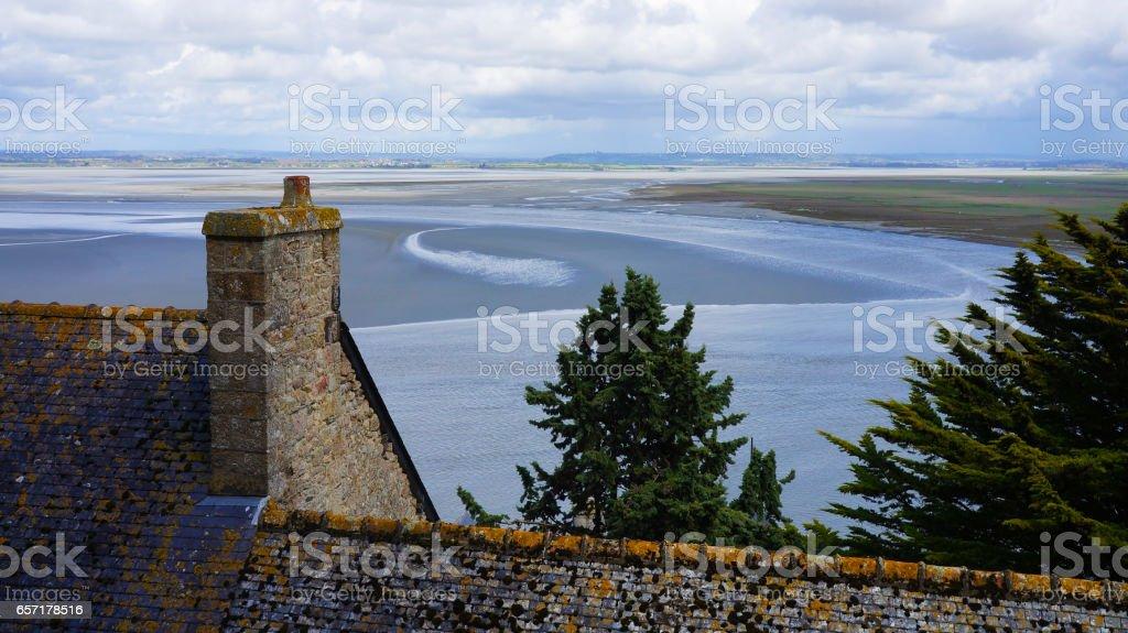 Abbey of Mont Saint Michel, France stock photo