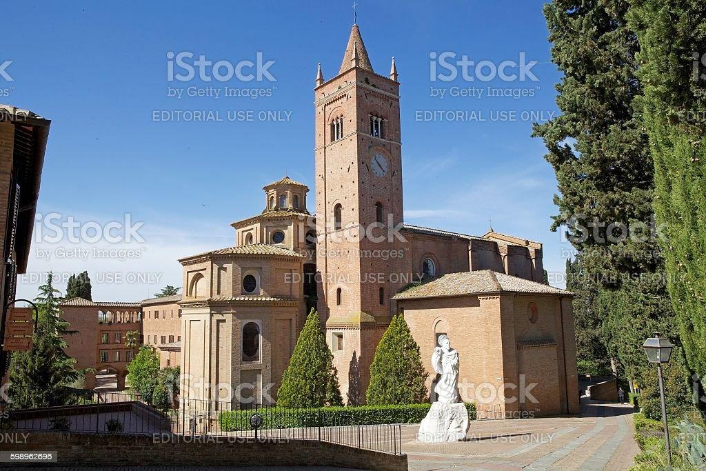 Abbey of Monte Oliveto Maggiore stock photo