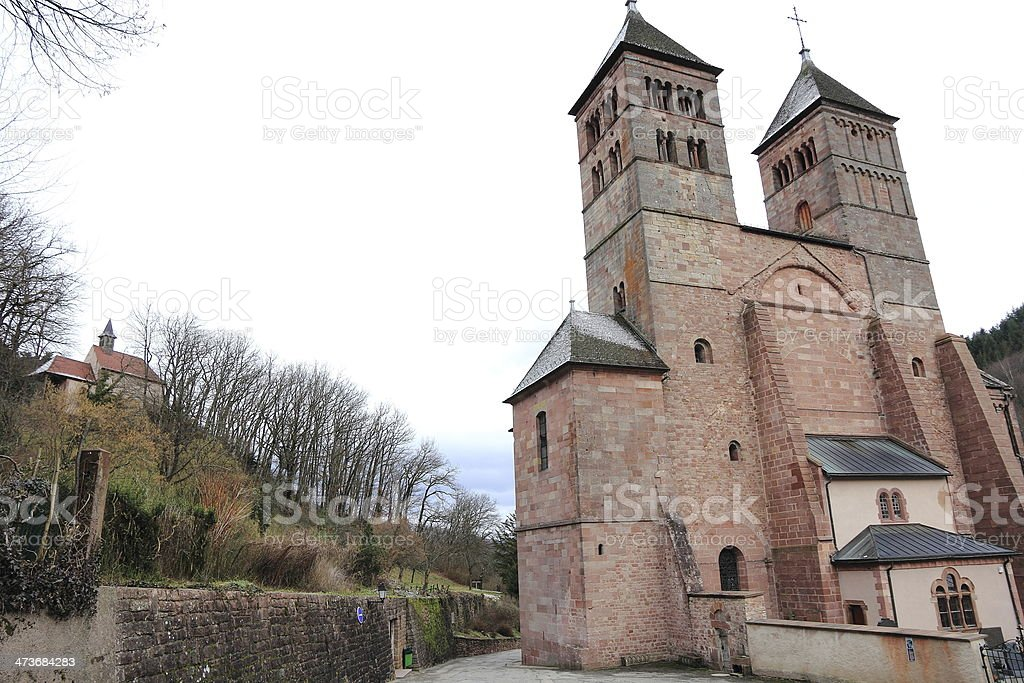 Abbey of Murbach, Alsace stock photo