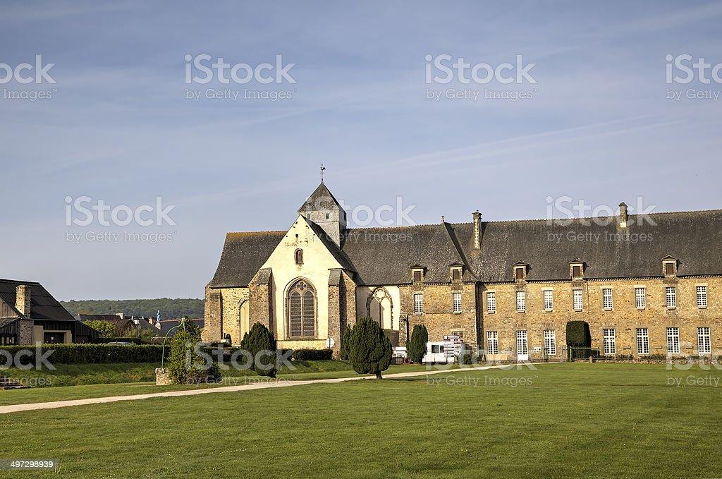 Abbey of Paimpont. Broceliande, France stock photo
