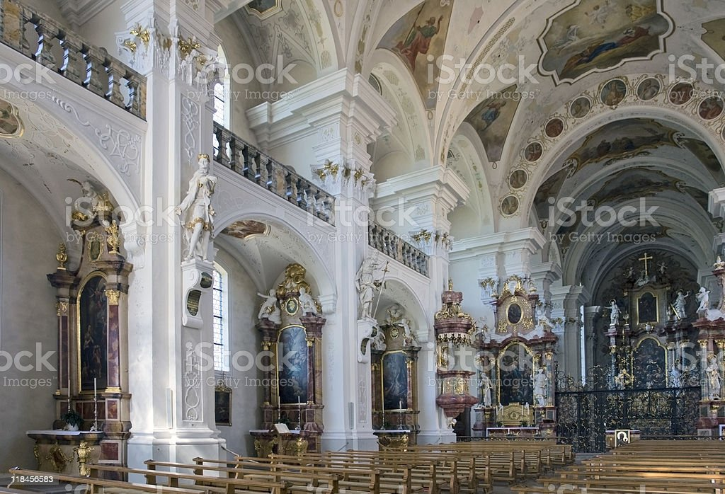 Abbey of Saint Peter in the Black Forest royalty-free stock photo