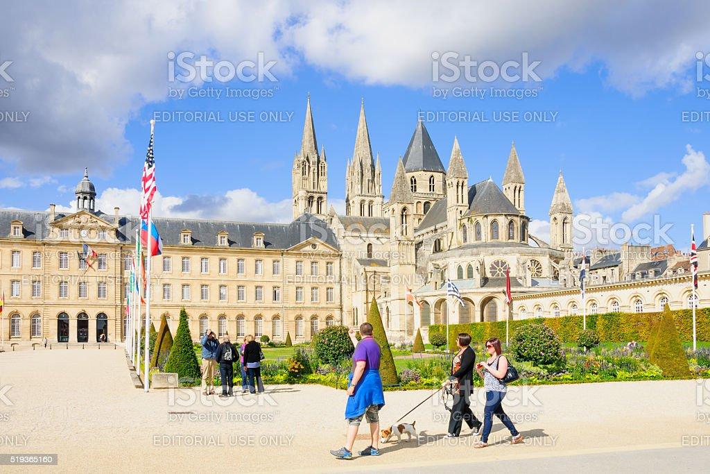 Abbey of Saint-Etienne, Caen stock photo