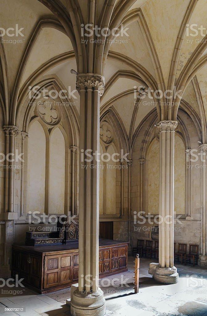 Abbey of Sainte-Trinite, Caen, France stock photo