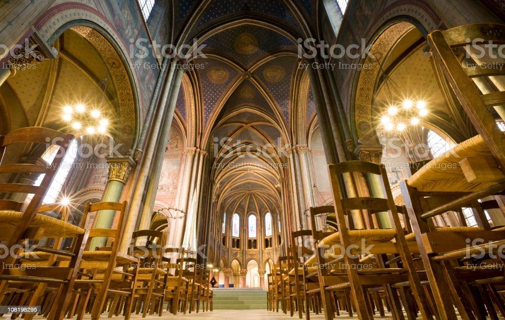 Abbey of Saint-Germain-des-Pres Church in Paris stock photo
