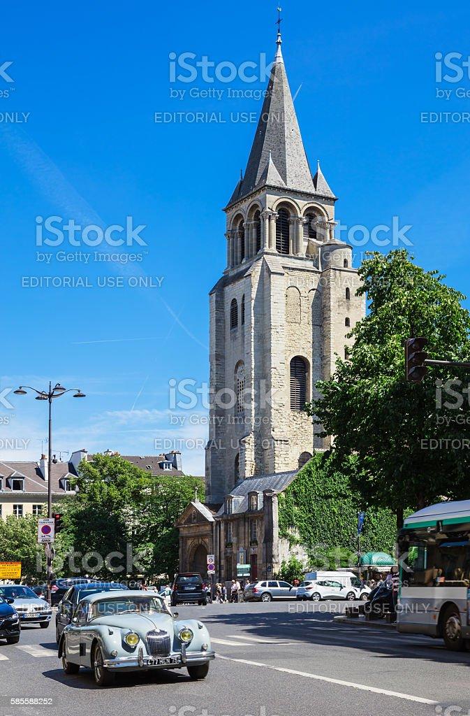 Abbey of Saint-Germain-des-Pres, Paris, France stock photo