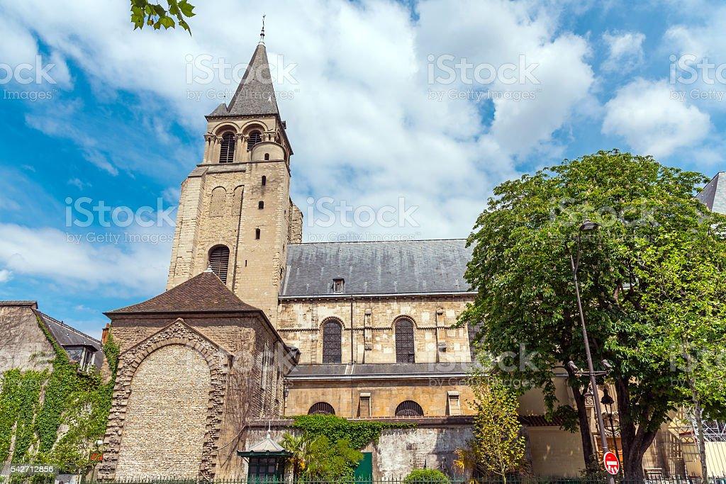 Abbey of Saint-Germain-des-Pres stock photo