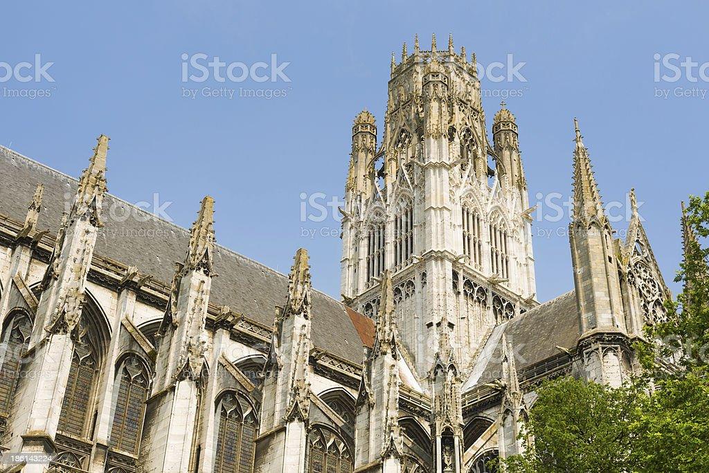Abbey of Saint-Ouen in Rouen city royalty-free stock photo