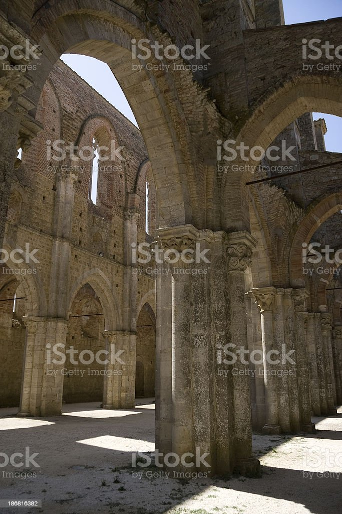 Abbazia di San Galgano stock photo