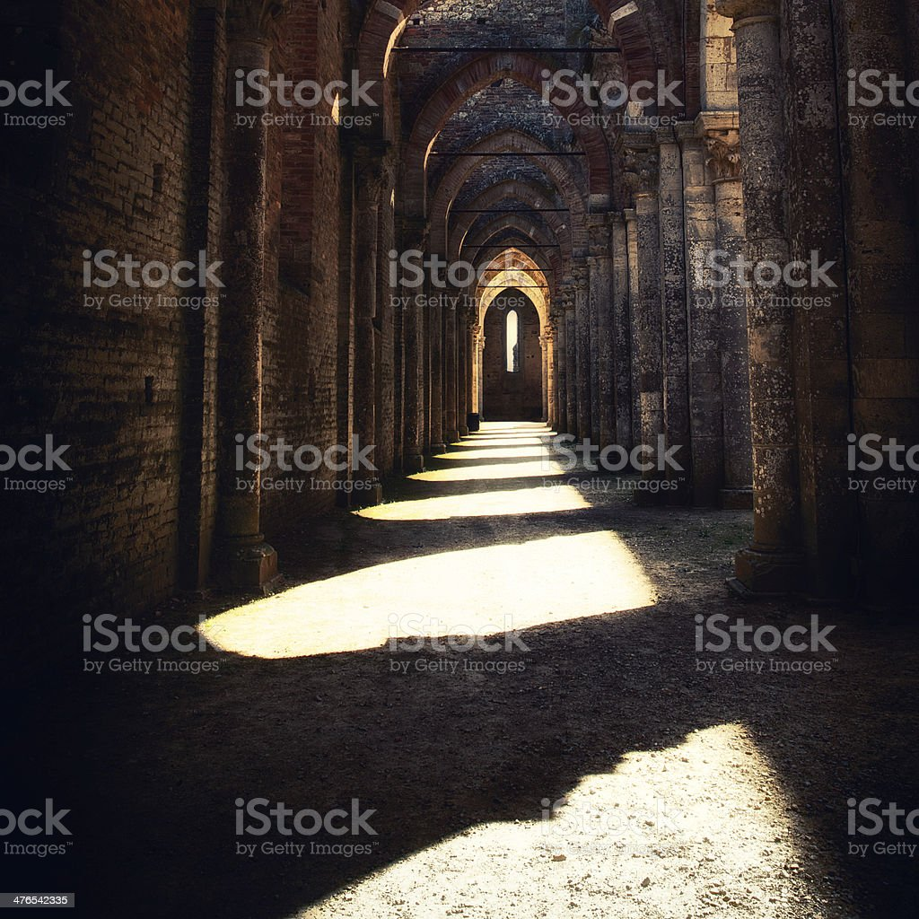 Abbey of San Galgano stock photo
