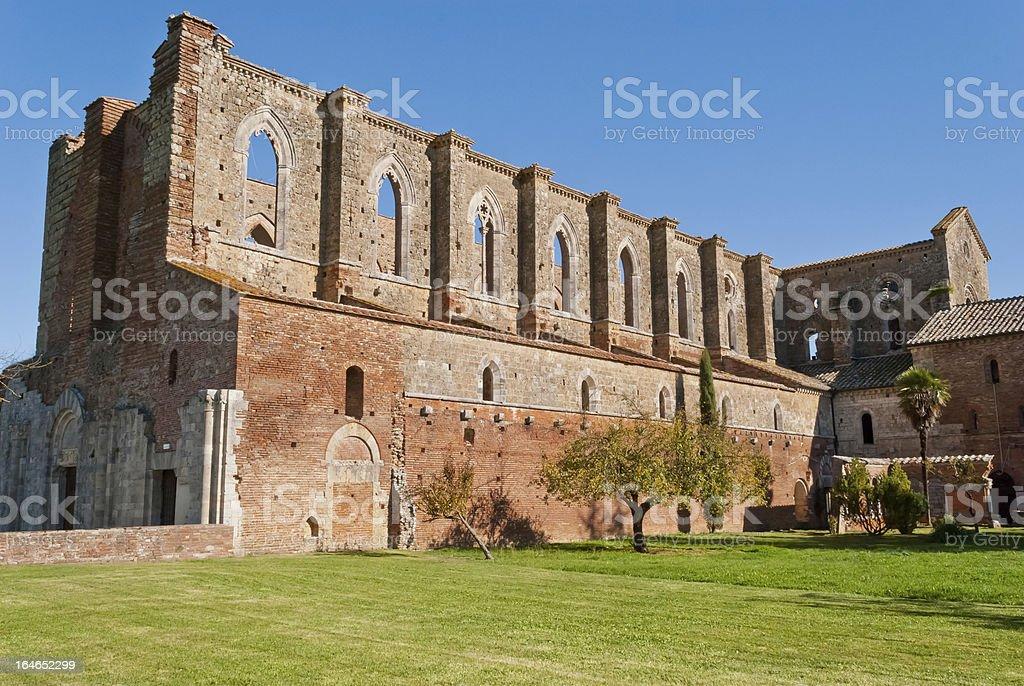 Abbey of San Galgano, Tuscany, Italy royalty-free stock photo
