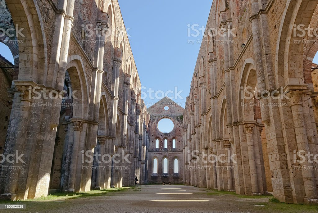 Abbey of San Galgano, Tuscany, Italy royalty-free stock photo