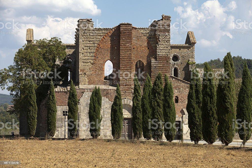 Abbey of San Galgano, Tuscany royalty-free stock photo