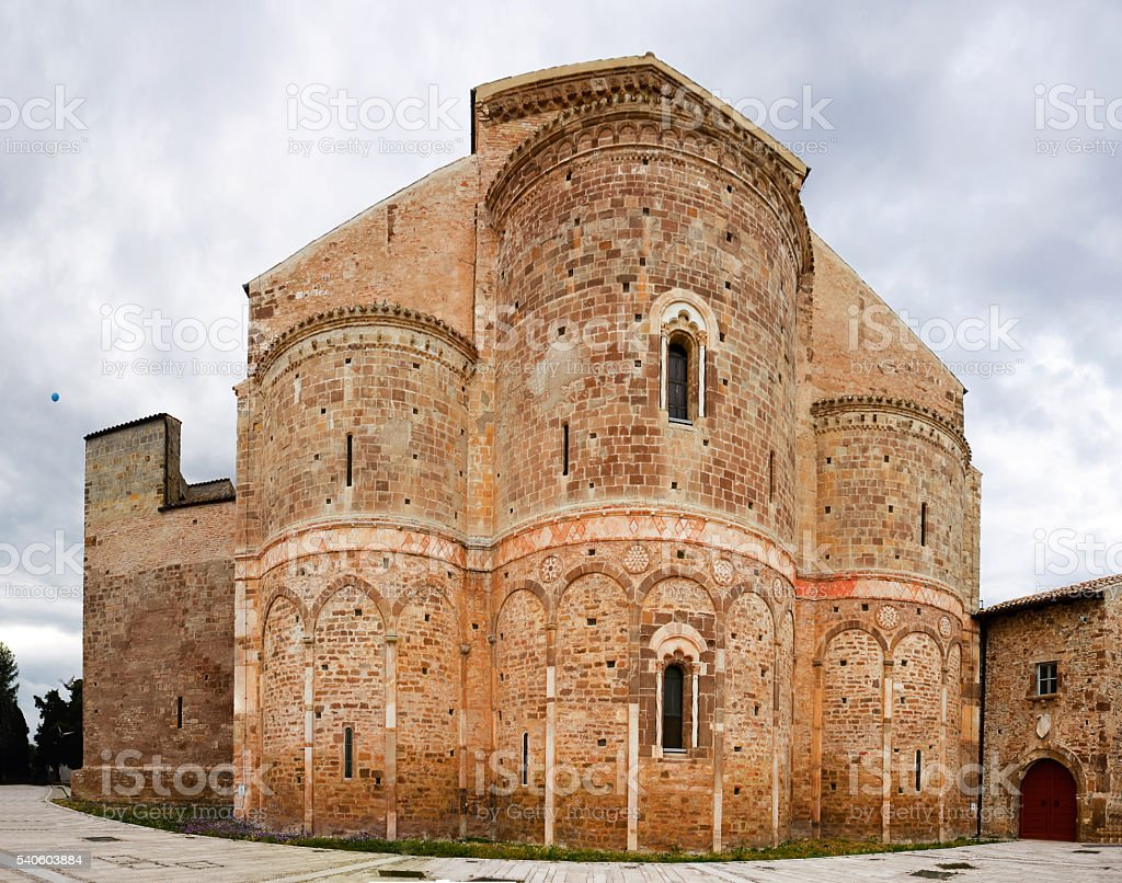 Abbey of San Giovanni in Venere in Fossacesia (Italy) stock photo