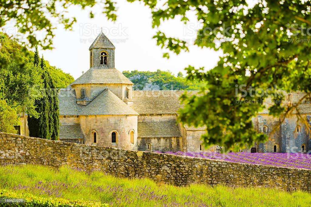 Abbey of Senanque, Provence, France stock photo