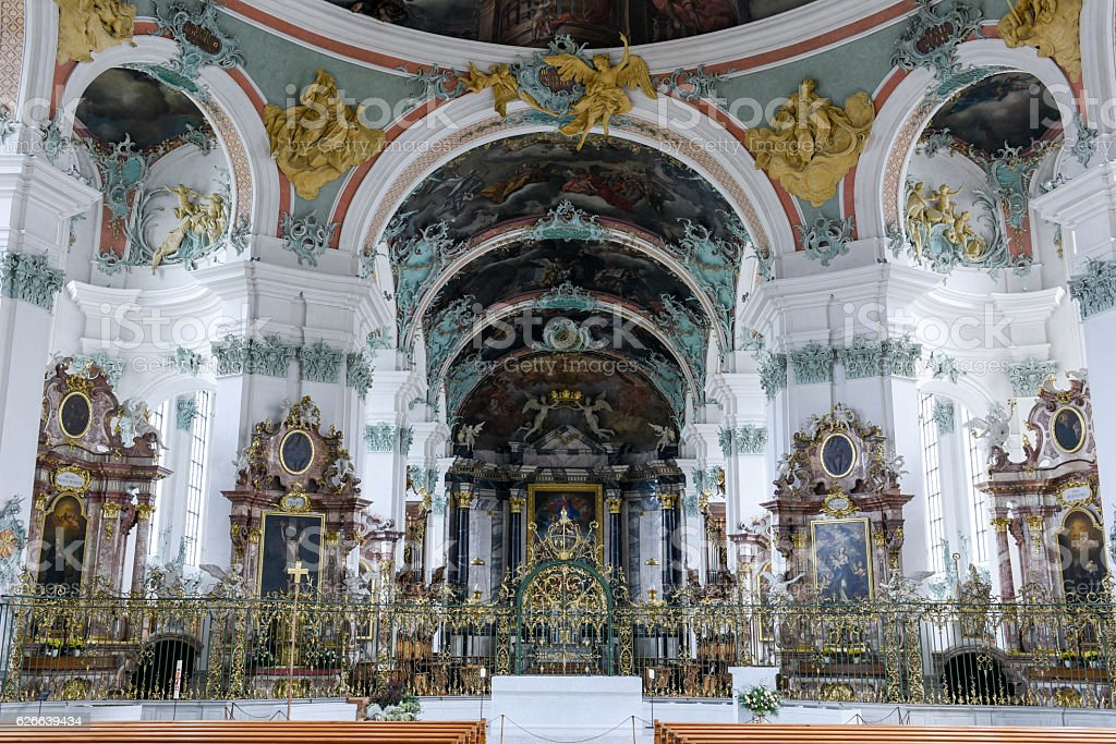 Abbey of St. Gallen on Switzerland stock photo