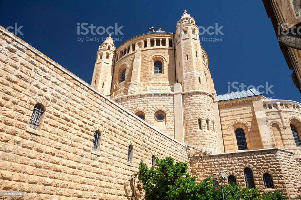 Abbey of the Dormition, Jerusalem. stock photo