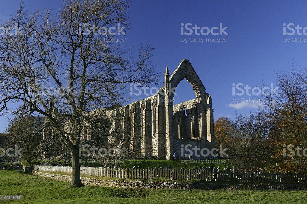 Abbey ruin, historic building, Yorkshire, England stock photo