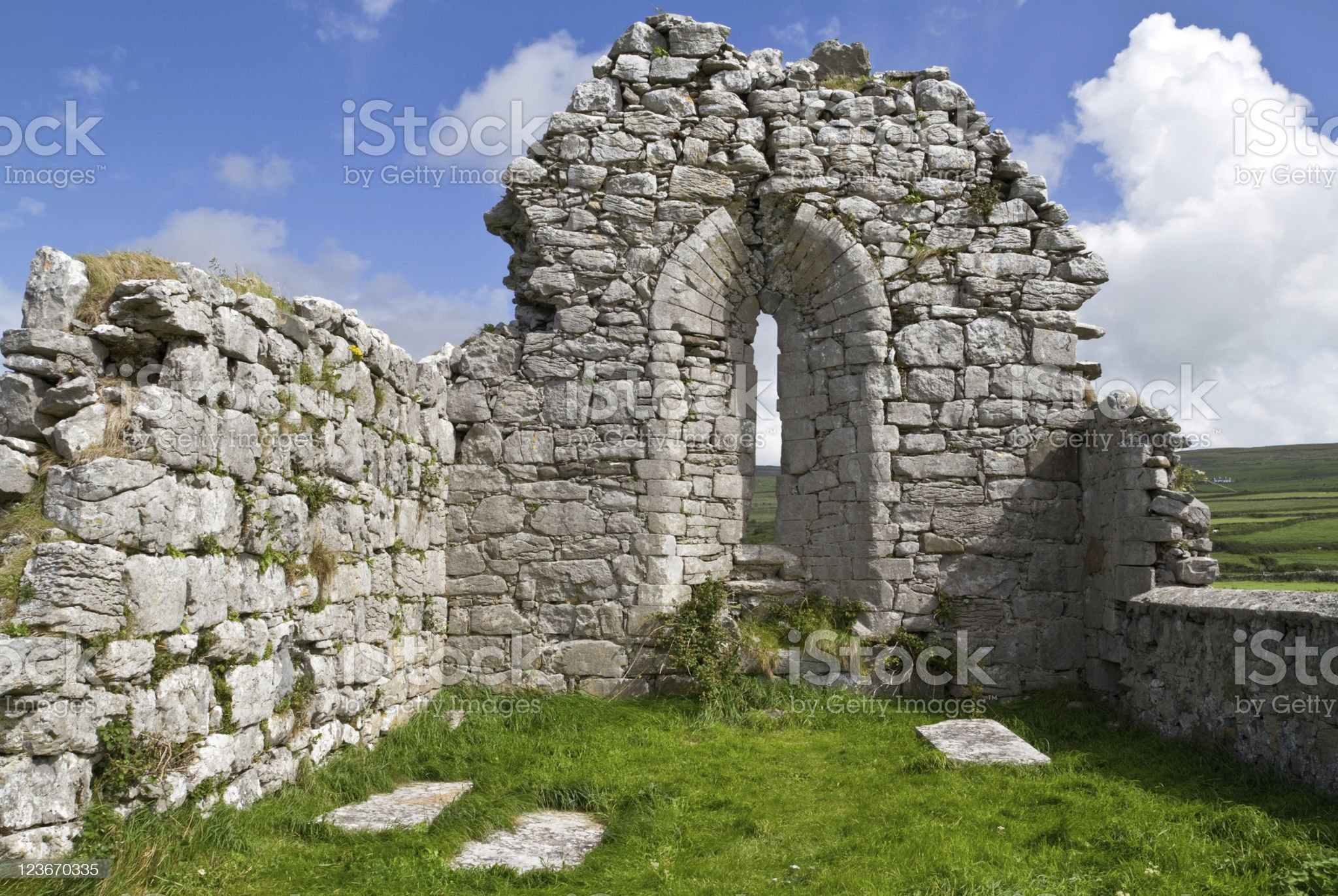 Abbey ruins in Ireland royalty-free stock photo