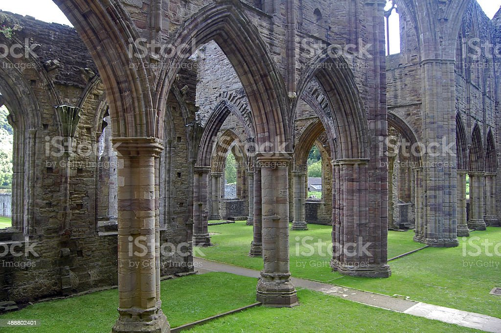 abbey ruins stock photo