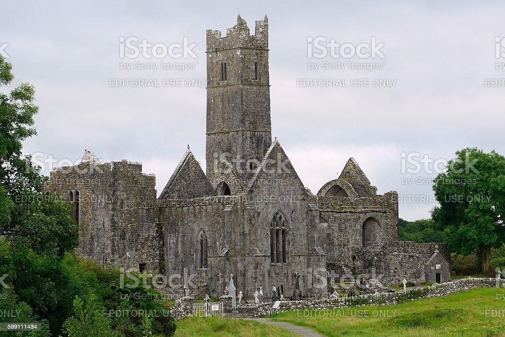 Abbey ruins, Quin, Ireland stock photo