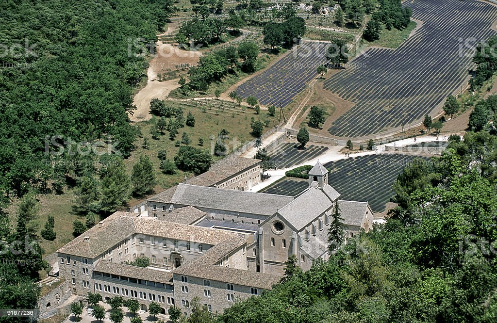 Abbey Senanque in Provence, France stock photo
