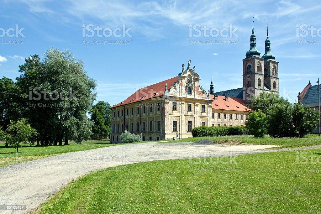 Abbey, Tepla, Czech Republic, 2013 stock photo