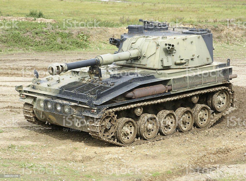 Abbot self propelled tank stock photo