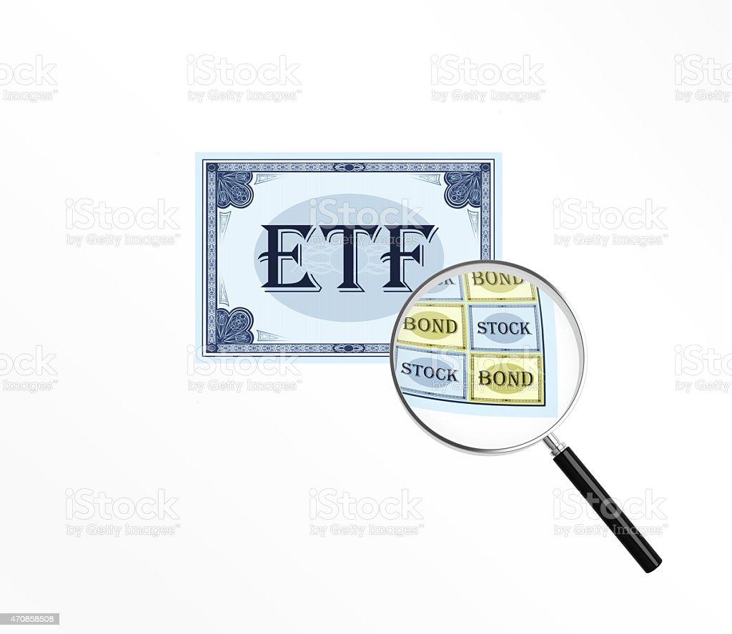 Abbreviation ETF stock photo