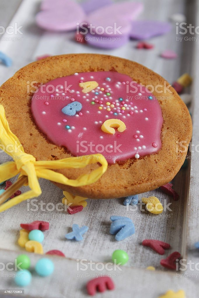 abc cake stock photo
