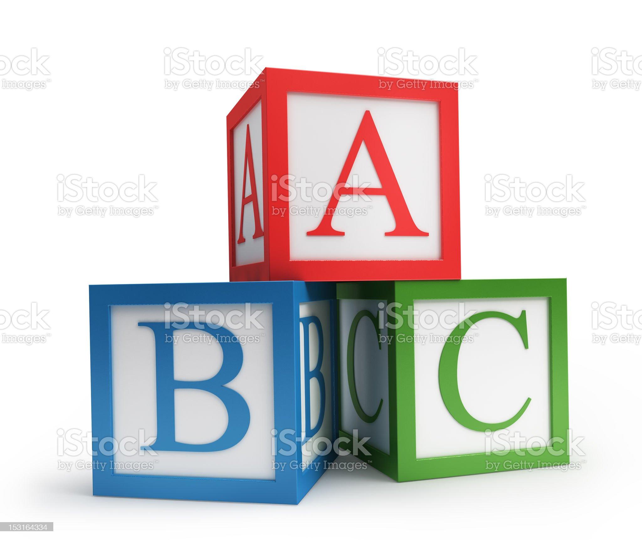 abc cubes royalty-free stock photo