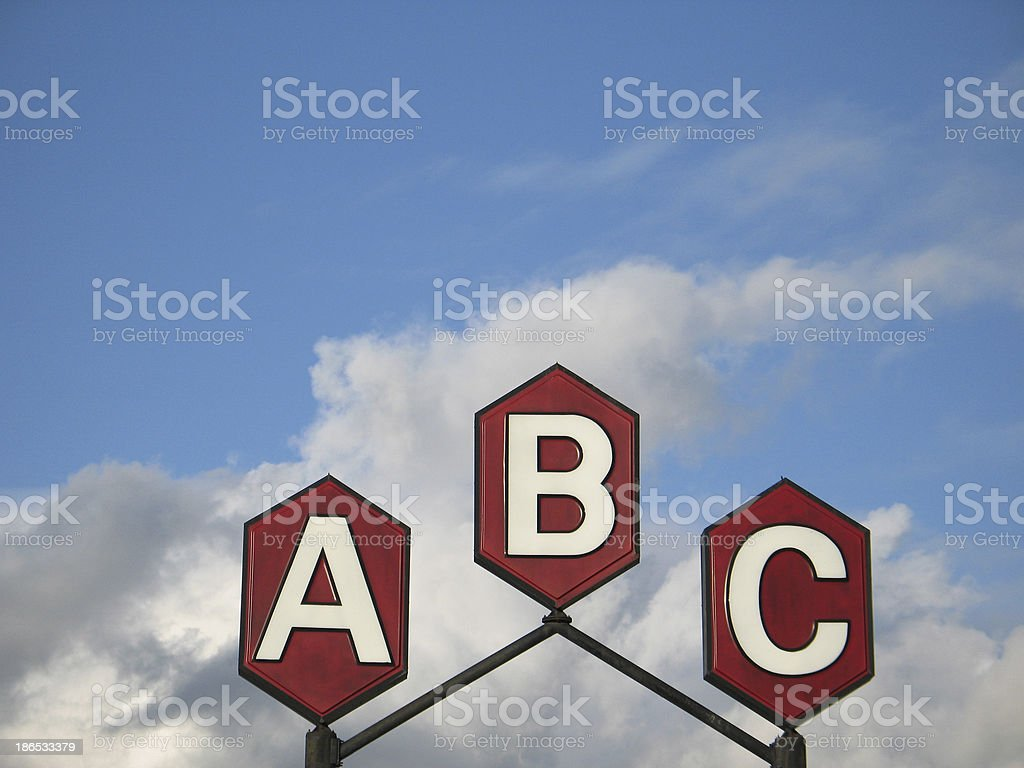 abc sign royalty-free stock photo